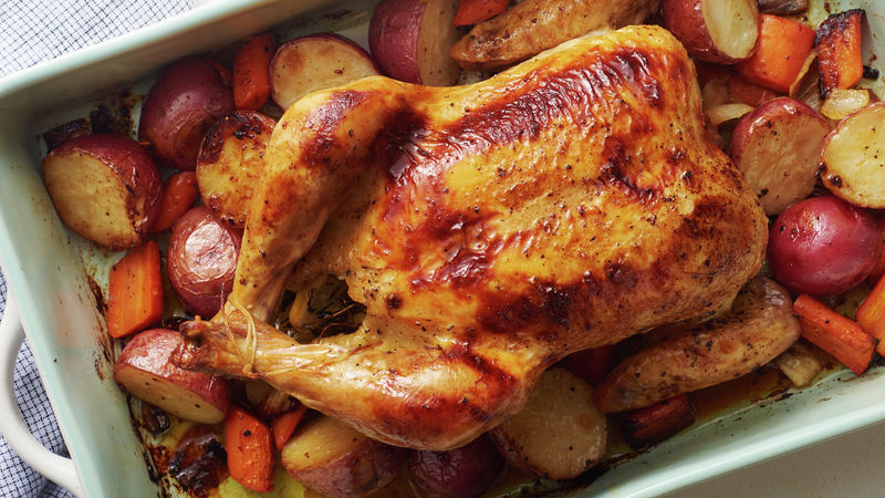 Lemon-Herb Roast Chicken Dinner