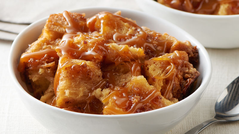 Slow-Cooker Caramel-Toffee Bread Pudding