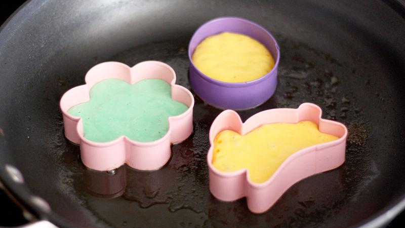 Easter Rainbow Pancakes