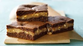 Peanut Butter Layer Brownies