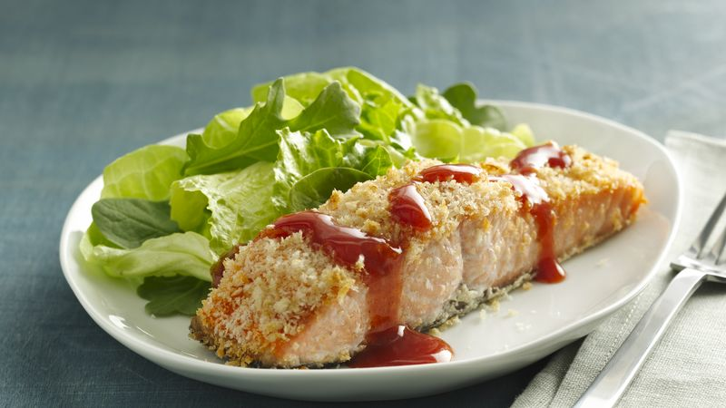 Panko Crusted Buffalo Salmon