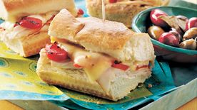 Turkey and Roasted Red Pepper Sandwich