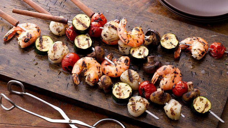 Grilled Shrimp And Scallop Kabobs Recipe Bettycrocker