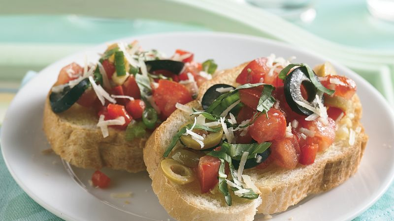 Chopped Salad Bruschetta