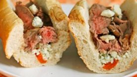 Grilled Steak and Gorgonzola Sandwich