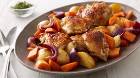 Slow-Cooker Balsamic Honey-Glazed Chicken and Vegetables