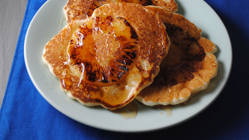 Roasted Pineapple Pancakes