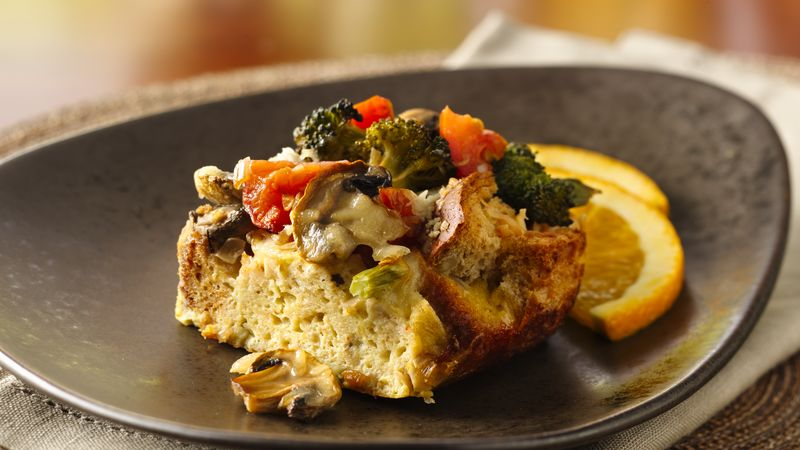Asiago Vegetable Strata
