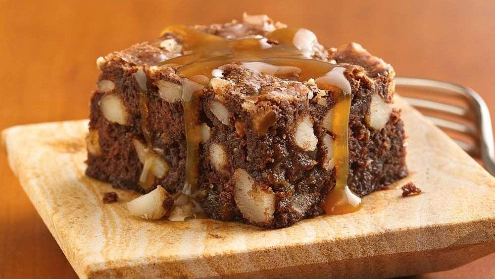 Toffee-Banana Brownies