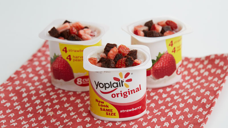 Double Berry Brownie Yogurt Cup