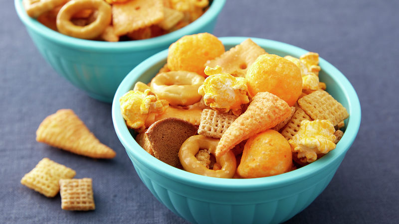 Cheesy Game Day Snack Mix