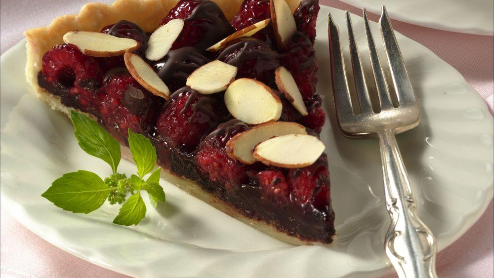 Raspberry Truffle Tart