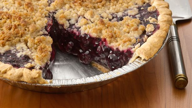 Blueberry Streusel Pie