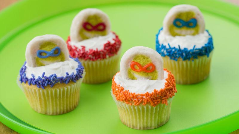 Cowabunga Cookie Cupcakes