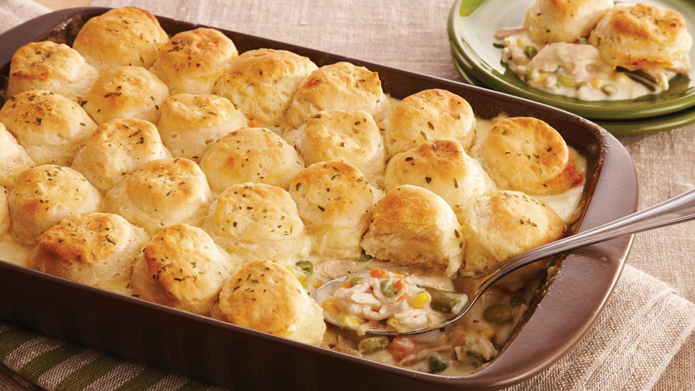 Tarragon Chicken and Biscuits