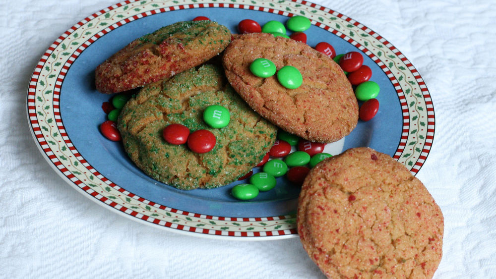Holiday Peanut Butter Surprise Cookies