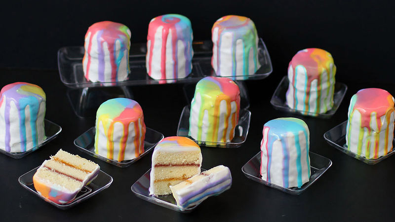 Rainbow Petit Fours