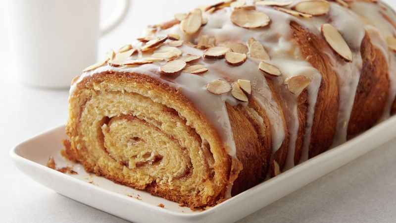 Almond Cream Cheese Cinnamon Roll Swirl Bread Recipe Pillsbury Com