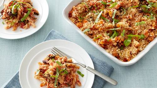 Mediterranean Chicken Pasta Bake Recipe