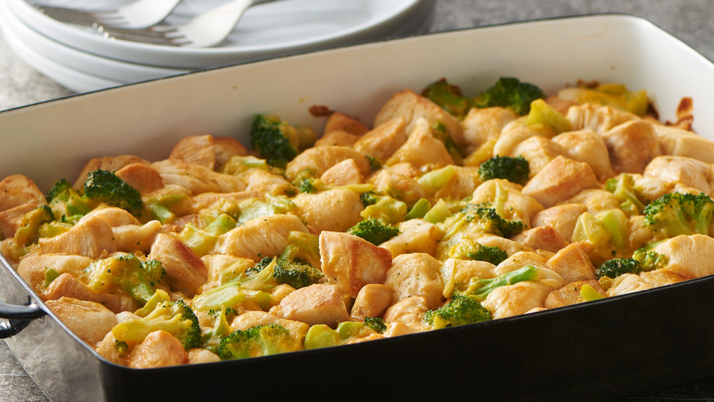 3-Ingredient Chicken and Broccoli Bubble-Up Bake
