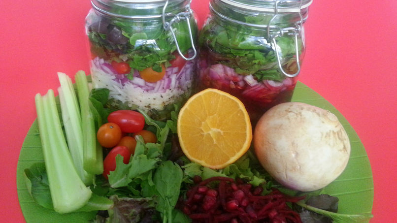Salad in Jars