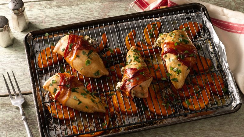Bacon-Wrapped Chicken and Butternut Squash Sheet-Pan Dinner