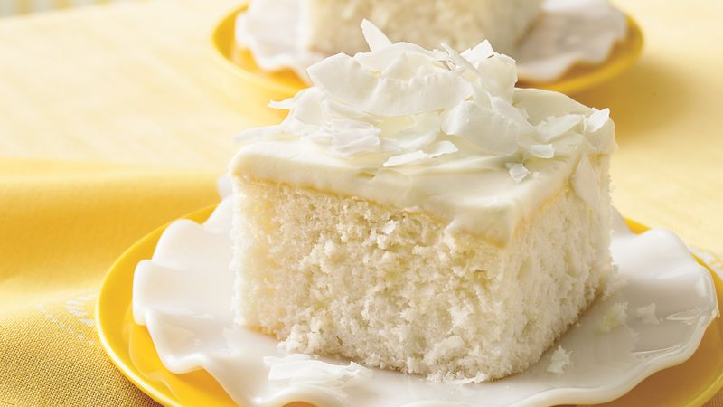 Coconut Cake with White Chocolate Frosting Recipe - BettyCrocker.com