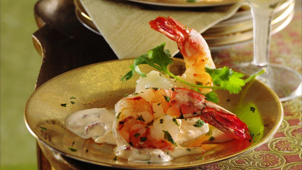 Cilantro-Lime Shrimp with Chile Aïoli