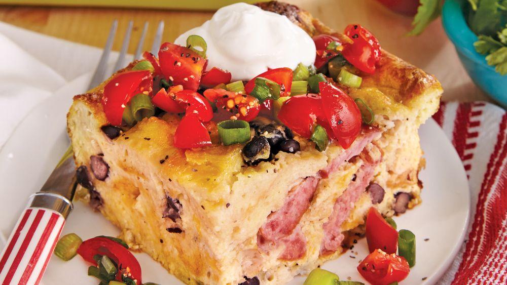 Overnight Ranchero Egg Bake