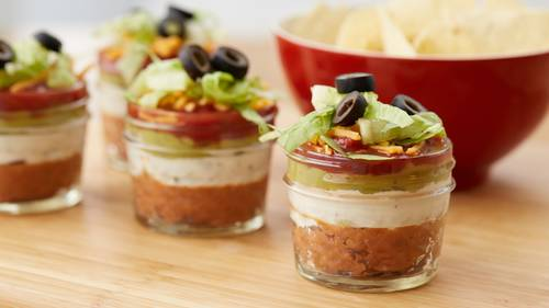 Mini 7-layer Dip-in-a-Jar