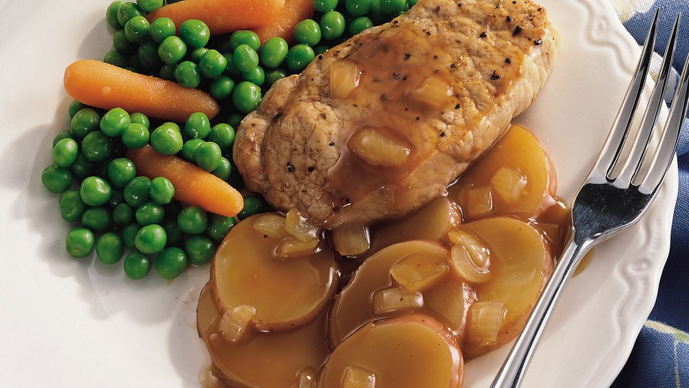 how to make gravy from pork chop drippings