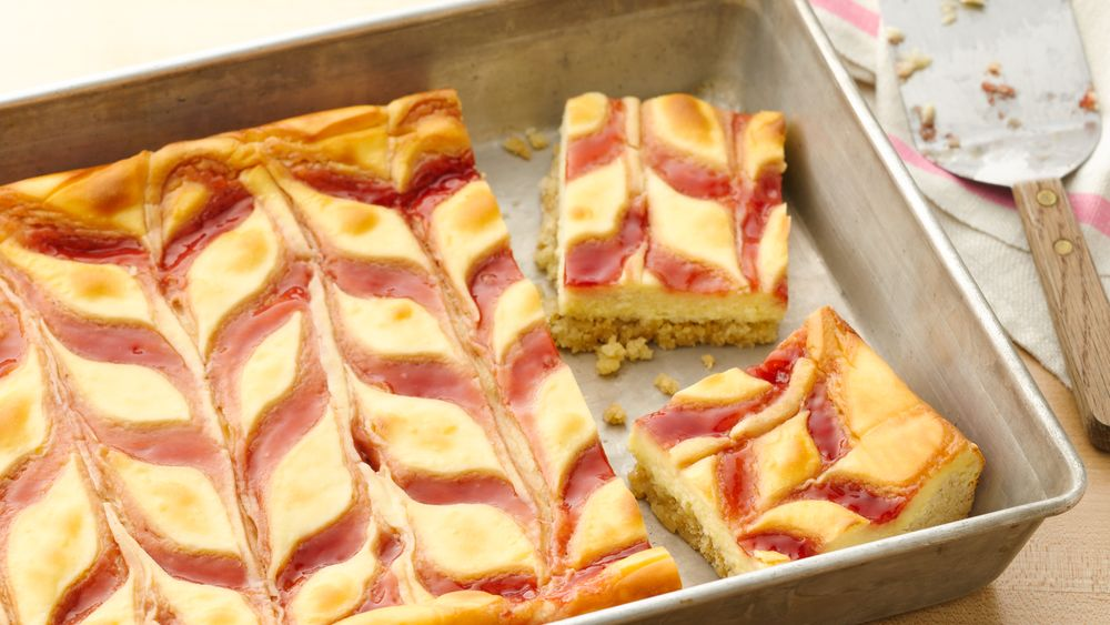 Strawberry-Cheesecake Cookie Bars recipe from Pillsbury.com
