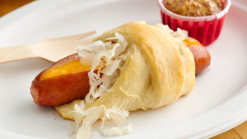 Cheesy Brat Crescent Dogs