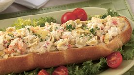 Bread Boat with Crab Spread