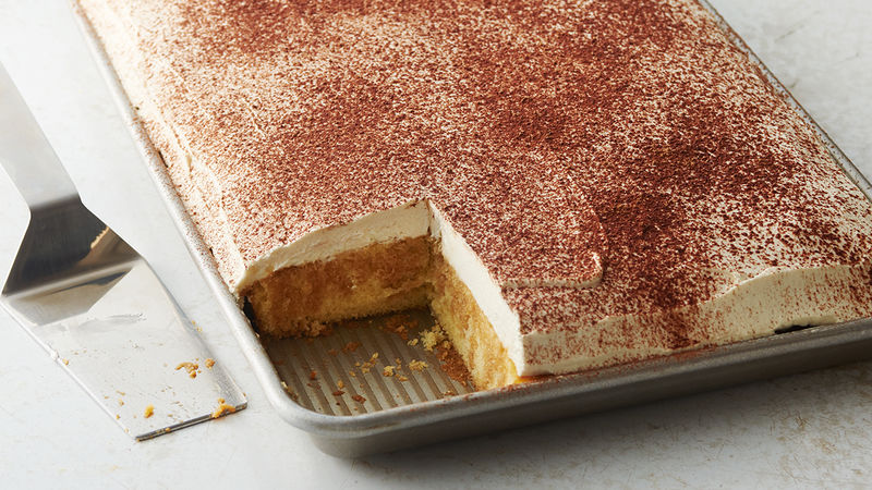 Shortcut Tiramisu Sheet Cake