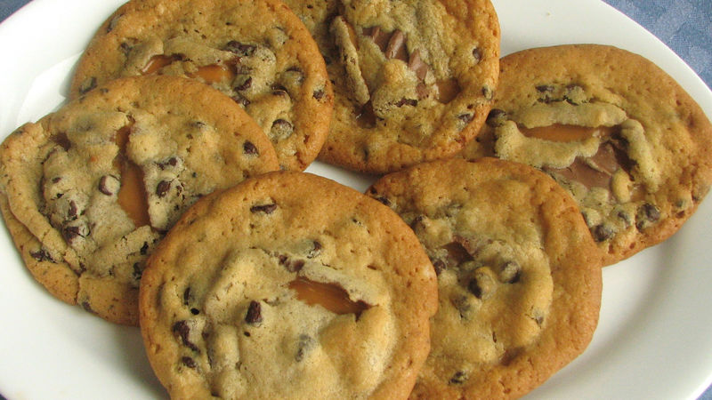 gooey homemade chocolate chip cookies for These chocolate chip gooey butter cookies are basically gooey butter cake in cookie form with some chocolate chips tossed in got a recipe for it now.