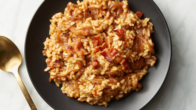 French Onion and Bacon Risotto