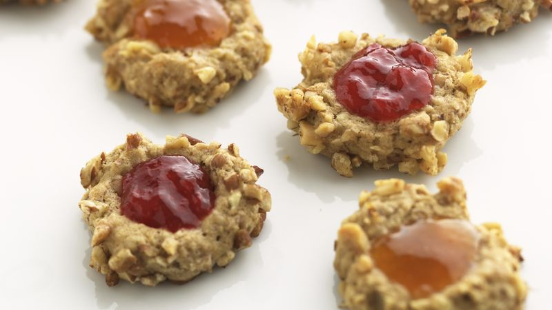 Skinny Strawberry-Nut Thumbprints