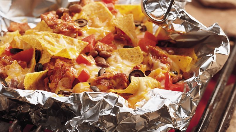 Nachos de Pollo a la Barbecue