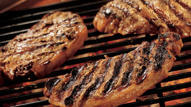 Grilled Herb Steaks
