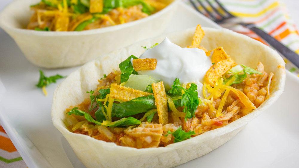 Easy Mexican Chicken Taco Boats