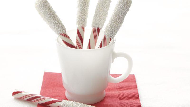 Snow-Capped Peppermint Sticks
