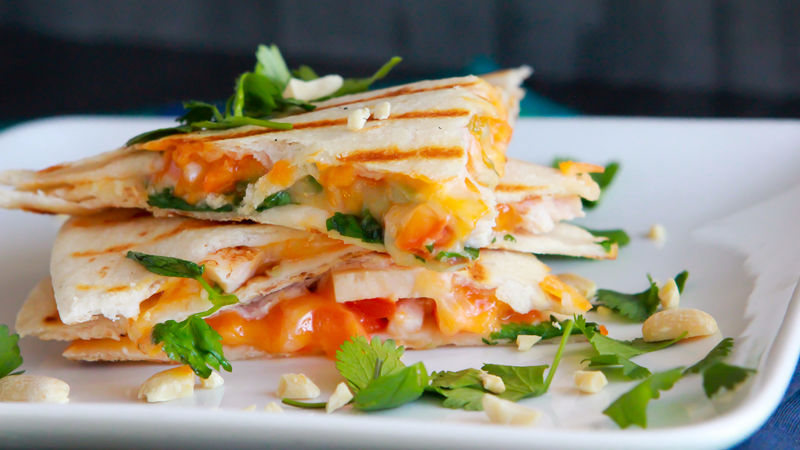 Skinny Thai Breakfast Quesadilla