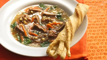 Toad's Eye Soup with Witches' Broom Breadsticks