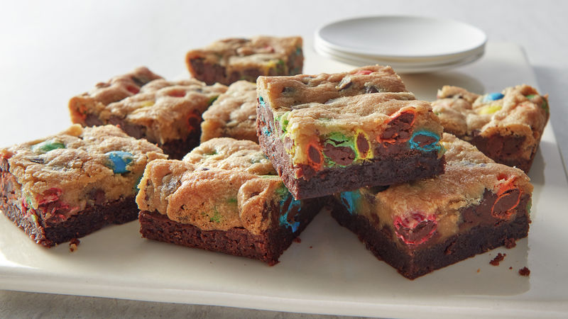 3-Ingredient M&M's™ Brookie Bars