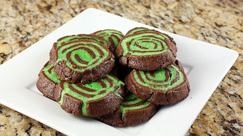 Chocolate Mint Swirl Cookies