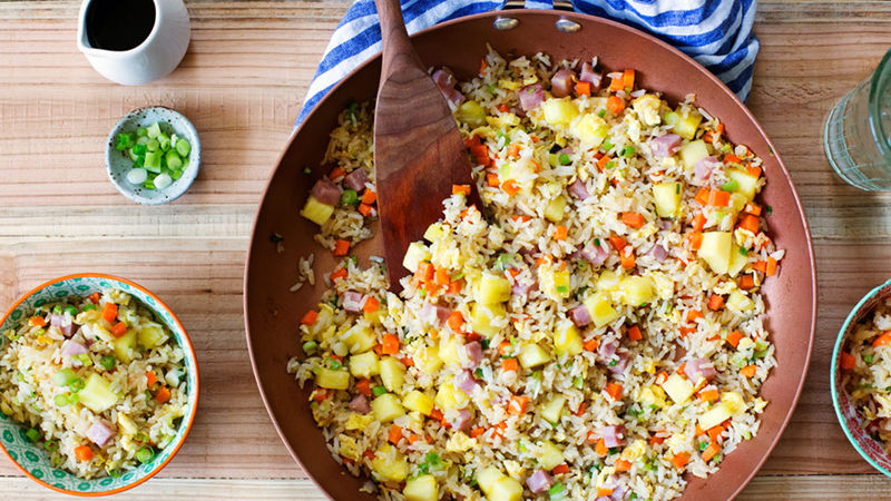 Pineapple and Ham Fried Rice