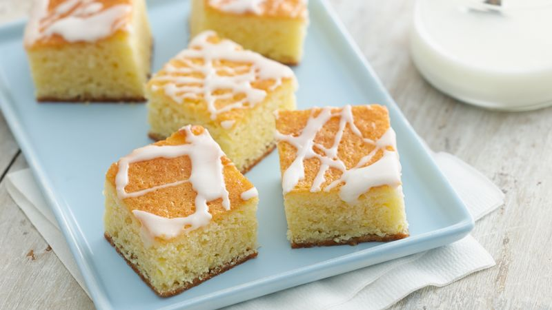 Lemon Butter Pound Cake Bars Recipe Bettycrocker Com