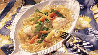 Haddock with Lemon-Pepper Vegetables