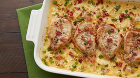 Pork Chops with Cheesy Scalloped Potatoes